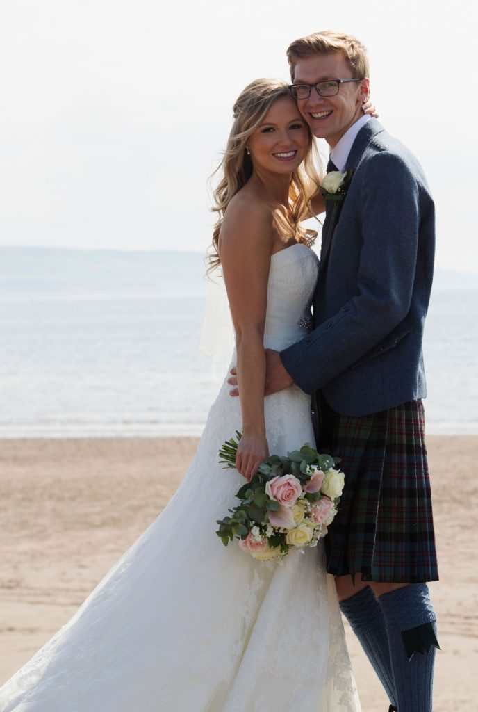 Wedding couple flowers from Every Bloomin Thing Flowers Glasgow