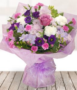 New Princess flowers Blush Arrangement for your anniversary gift from Every Bloomin Thing Glasgow
