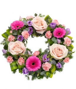 Pink Wreath from Every Bloomin Thing Flowers Glasgow
