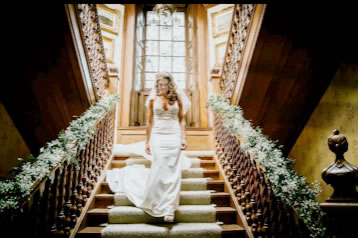 Bride on Staircase from Every Bloomin Thing Flowers Glasgow