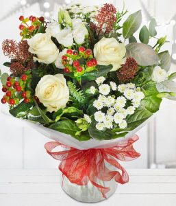 Merry Berry Christmas Bouquet from Every Bloomin Thing Flowers Glasgow