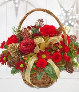 Festive Basket from Every Bloomin Thing Flowers Glasgow