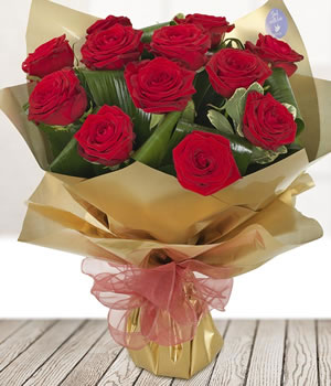 1 dozen long stemmed Red Naomi Roses from Every Bloomin Thing Florist Glasgow