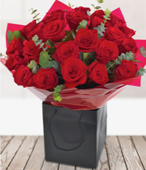 Two dozen red Naomi roses from Every Bloomin Thing Florist Glasgow
